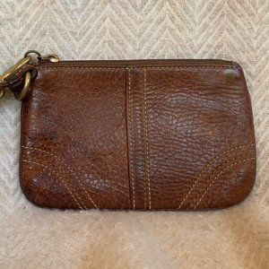 Coach genuine leather wristlet